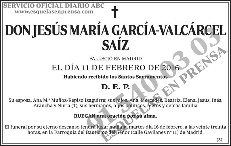 Jesús María García-Valcárcel Saíz